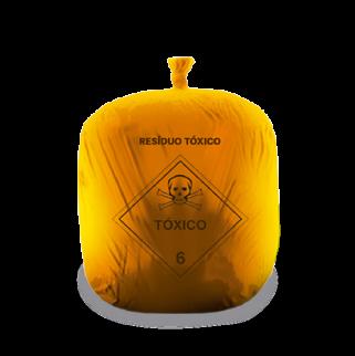 """Saco laranja para<br class=""""d-none d-sm-inline""""> resíduos químicos"""