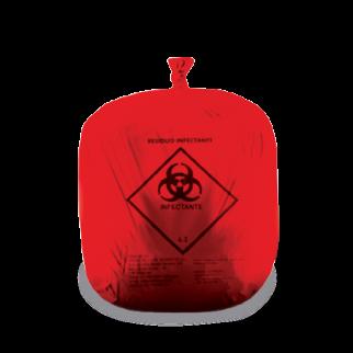 Saco vermelho para resíduos contaminados e incineráveis